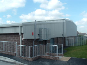 Typical External Air Conditioning Sports Hall